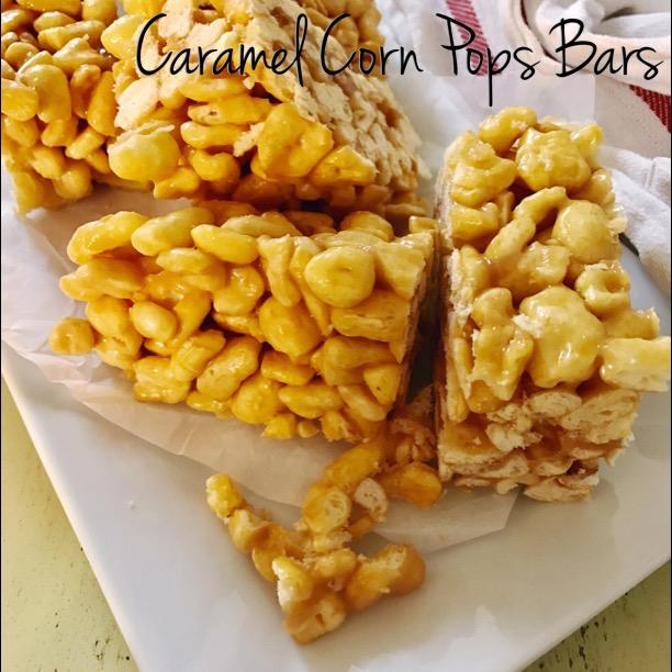 Caramel Corn Pops Bars